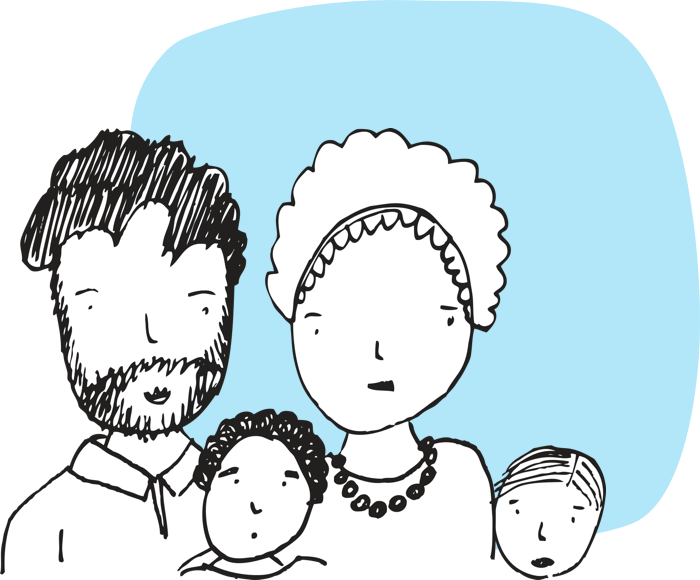 Illustration of family group